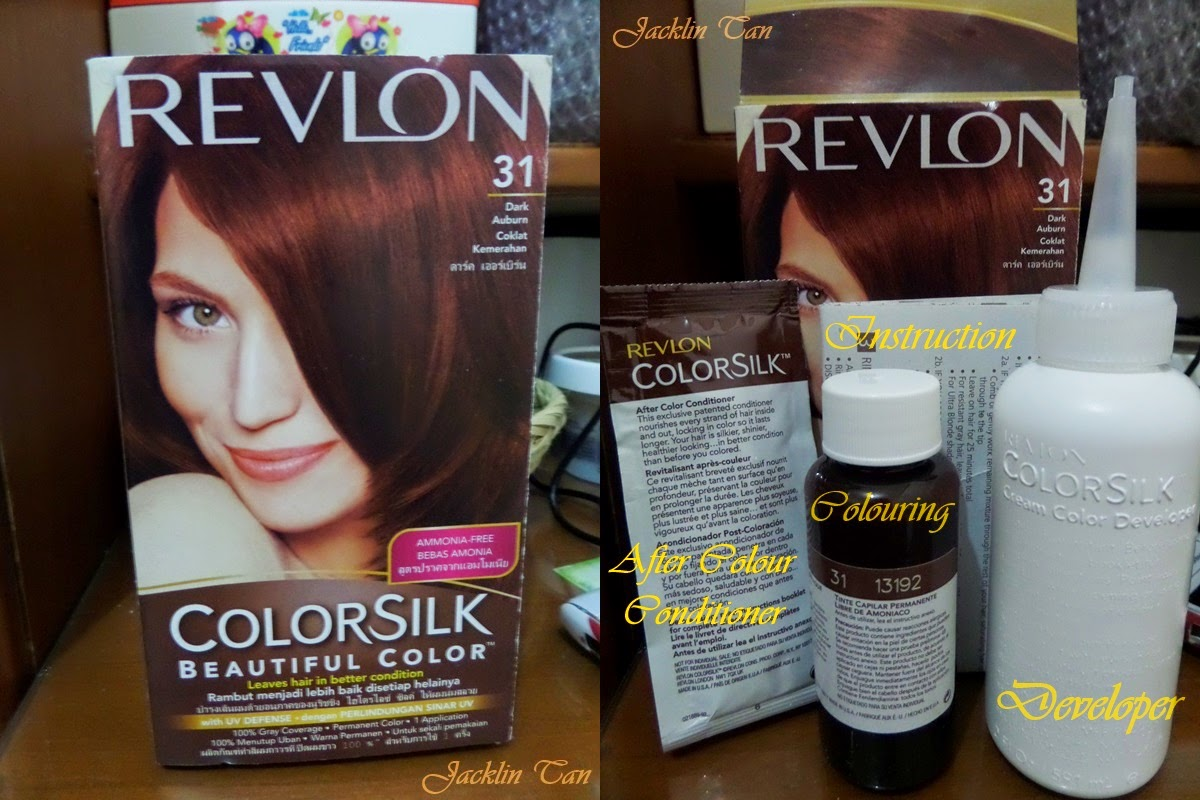 Review Revlon Color Silk 31 Dark Auburn Hair Dye