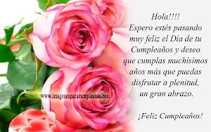 Imágenes de Feliz Cumpleaños con Flores