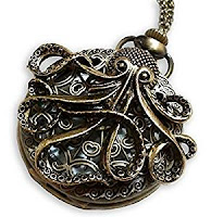 steampunk accessories for men and women. jewelry and mechanical pocketwatches Bronze Octopus Sea Monster Pocket Watch