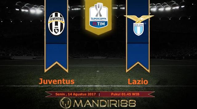 Juventus akan menghadapi Lazio pada laga Piala Super Italia  Terkini Prediksi Bola : Juventus Vs Lazio , Senin 14 Agustus 2017 Pukul 01.45 WIB