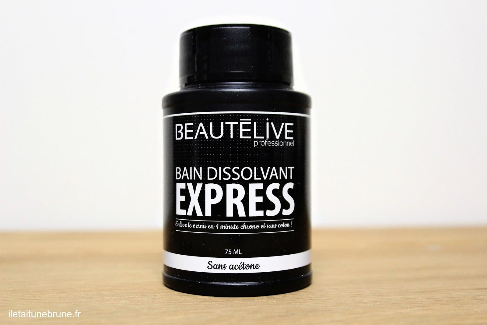 dissolvant bain express mousse beautélive
