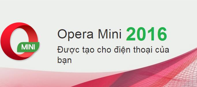 Opera mini mới nhất 2016