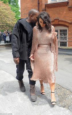 Kim K and her husband Kanye West
