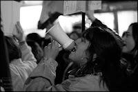 fotografia,retrato,megafono,feminista