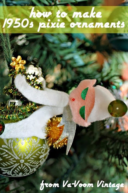 make 1950s elf christmas ornament tutorial