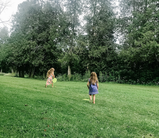 Kids running and playing