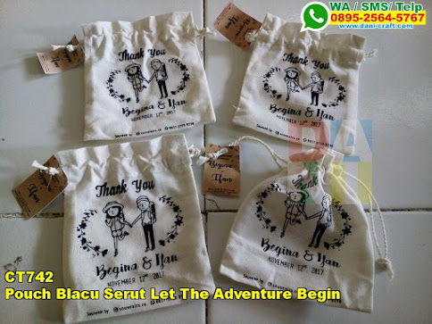 Toko Pouch Blacu Serut Let The Adventure Begin