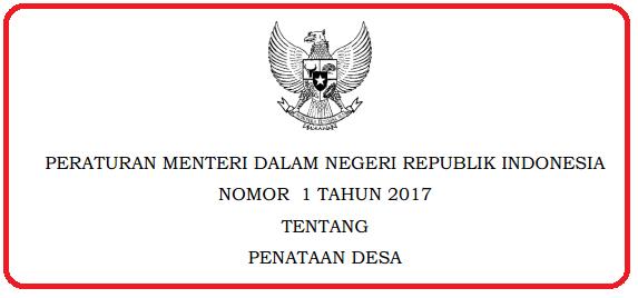 Ruang lingkup Peraturan Menteri ini mencakup PERMENDAGRI NOMOR  1 TAHUN 2017 TENTANG PENATAAN DESA
