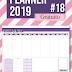 Planner 2019 #18: semanal de mesa (gratuito para download)