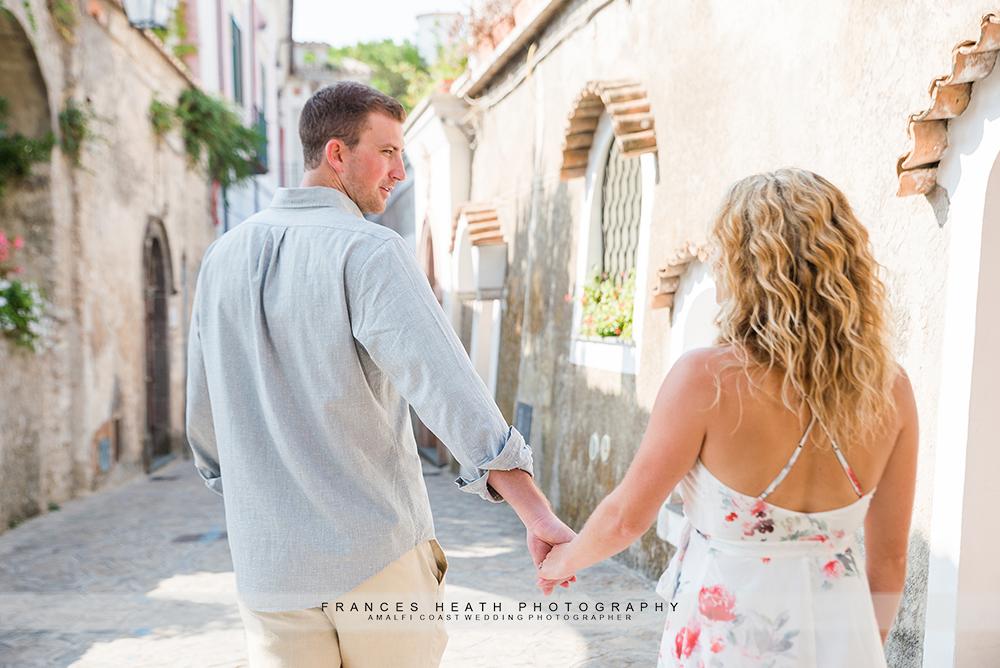 Couple walking in Ravello