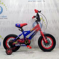 12 element spiderman lisensi sepeda anak
