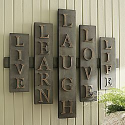 Live Learn Laugh Love Life A Plaque Makeover