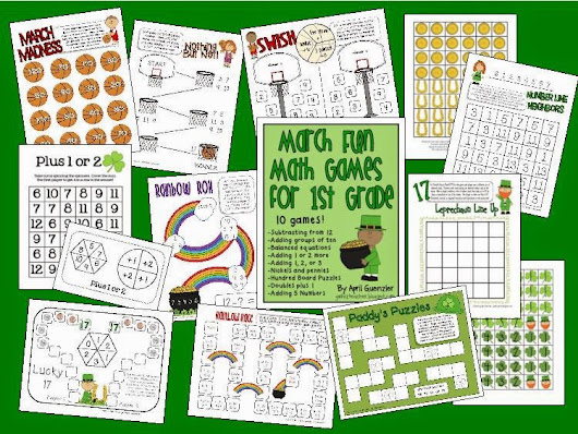 March Math Games UPDATE and new FREEBIE!