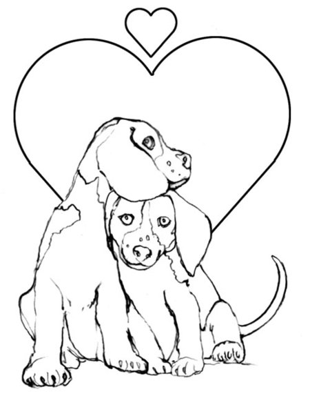 Puppy Love Coloring Book Pages Kids Disney
