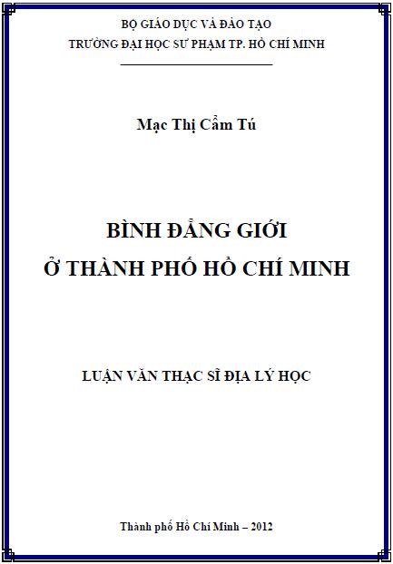 Bình đẳng giới ở thành phố Hồ Chí Minh