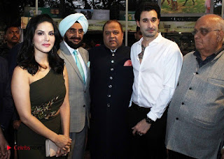Bollywood Actress Model Sunny Leone Stills at The Atilla Million Race Event  0010.jpg