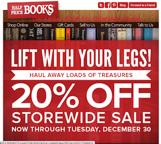 free Half Price Books coupons december 2016