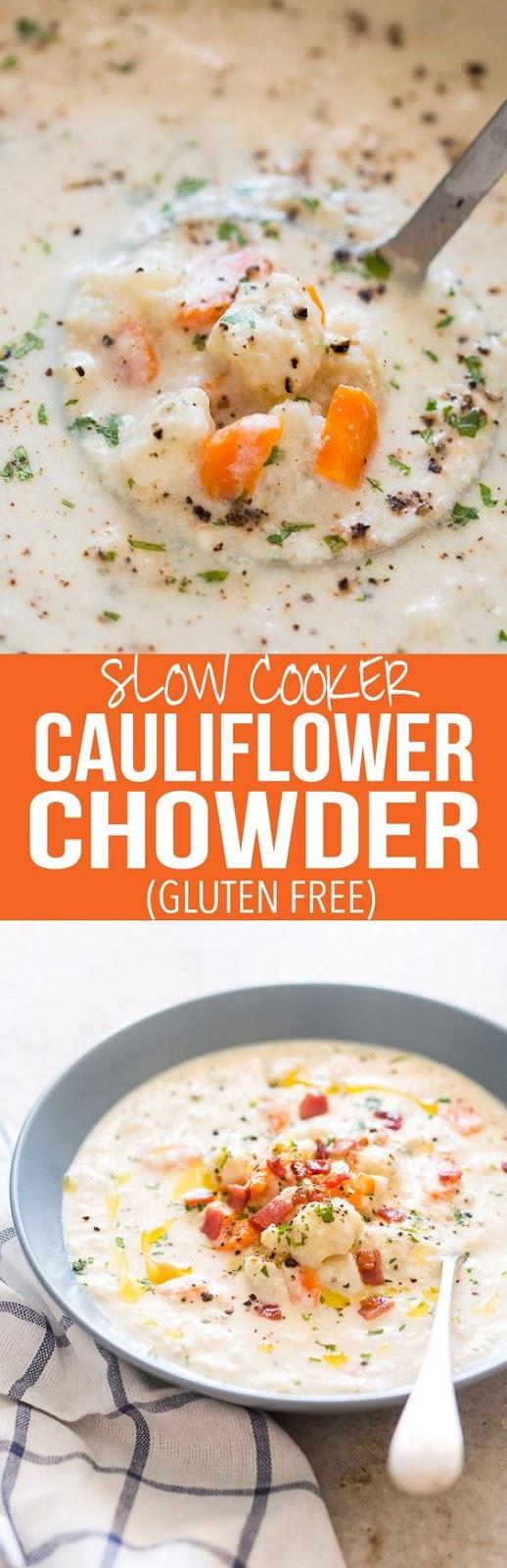 ★★★★☆ 3209 ratings       | creamy cauliflower chowder #creamy #cauliflower #chowder #vegetarian #soup