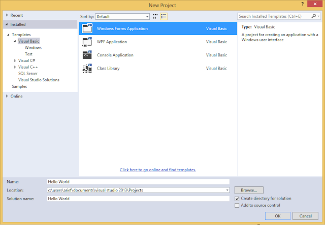 Membuat Program Hello World di Visual Basic (VB)