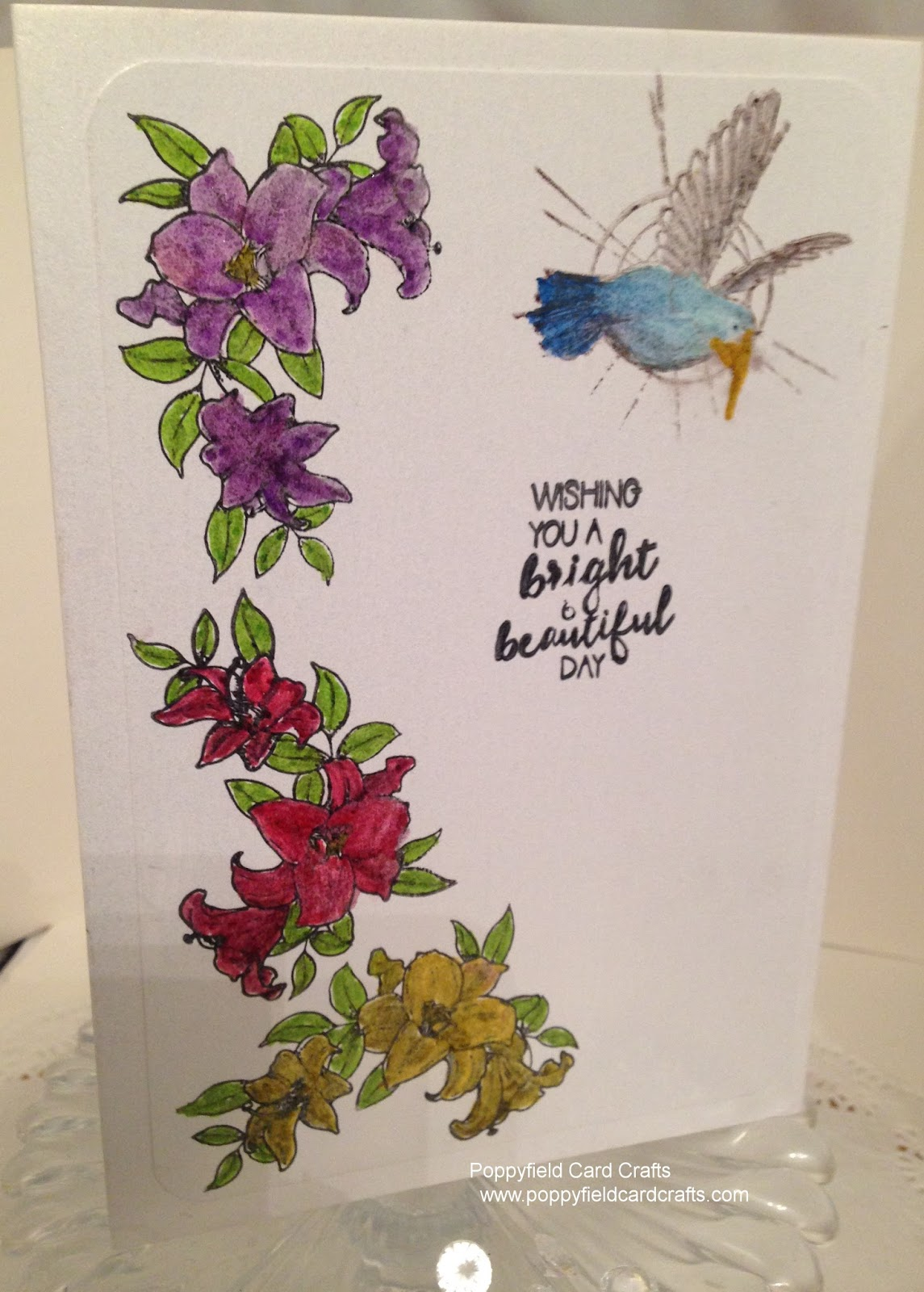 Poppyfield Card Crafts Wishing You A Bright Beautiful Day