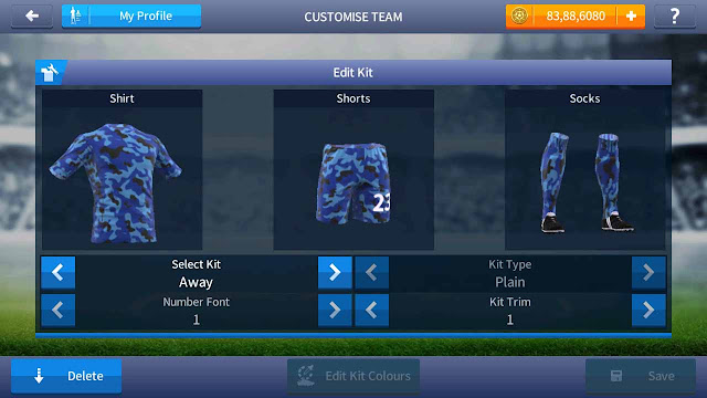 baju kit tentara marinir tni dream league soccer