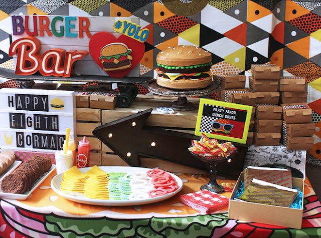 miss party mom a burger themed birthday party