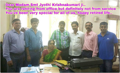 Superannuation of Jyothi Krishnakumari, LDC, AIR, Mangalore