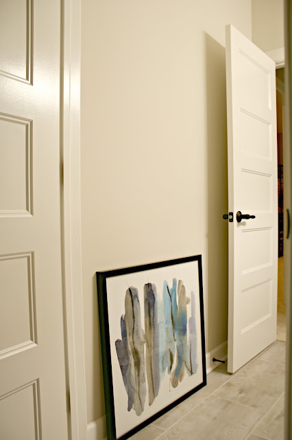 Where to hang art next to a door""