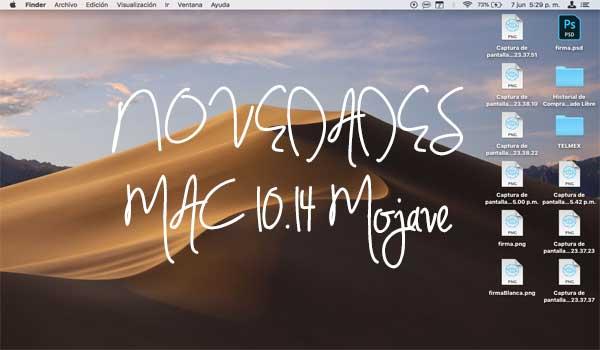 Ordenadores que se actualizarán a MacOs 10.14 Mojave