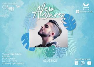 Concierto acústico de Alejo Alvarez
