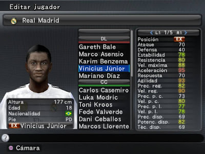 PES 2008 PS2 Option File Season 2018/2019