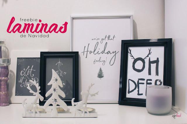 Freebie: laminas de Navidad