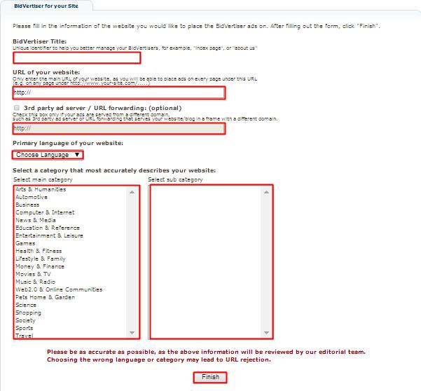 Formulir Pengisian Website