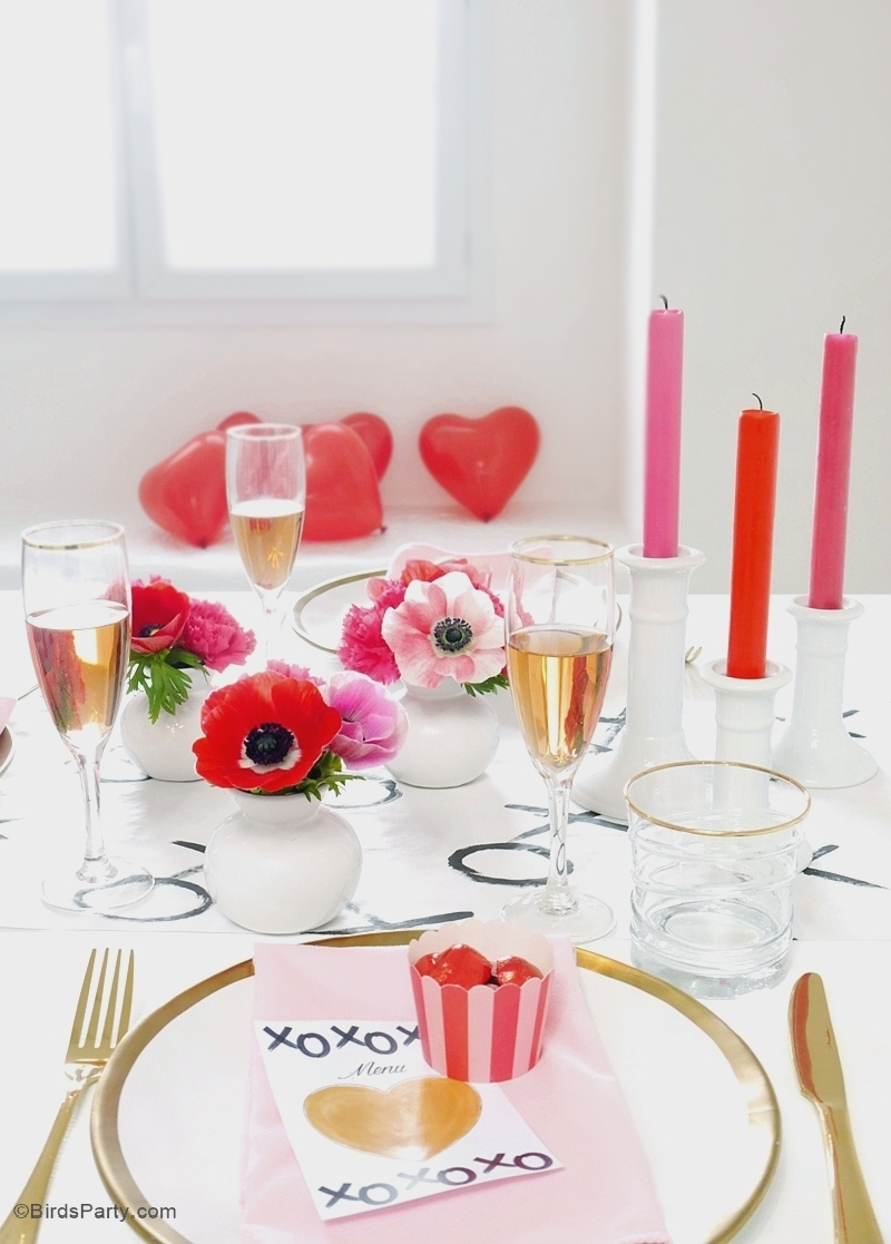 A Modern Valentine 39 S Day Dinner Party Party Ideas