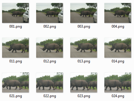 contoh ekstraksi gambar frame video dengan matlab