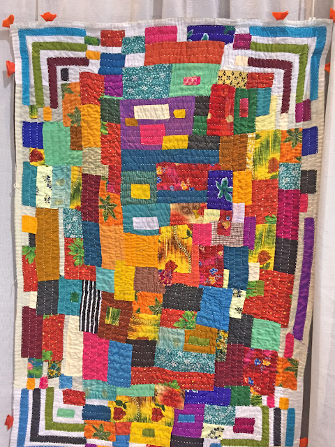 Quilt made by an African quiltmaker (Siddi), India seen on display in Savannah QuiltCon 2017