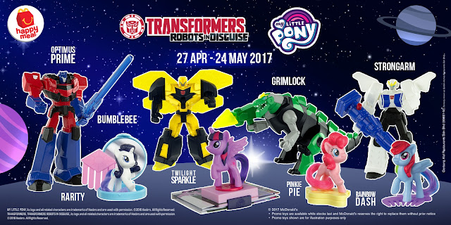 McDonald's Happy Meal FREE Transformers & My Little Pony Toys