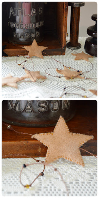 DIY Beaded Star Garland