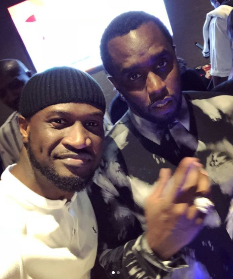 Peter Okoye Hangs Out With Diddy, Cassie In Dubai