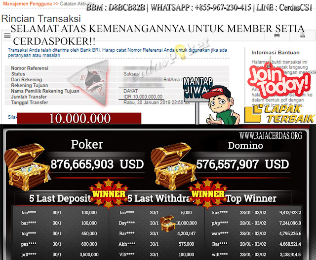 Menang Lagi Hanya Modal 500.000Rupiah!!!