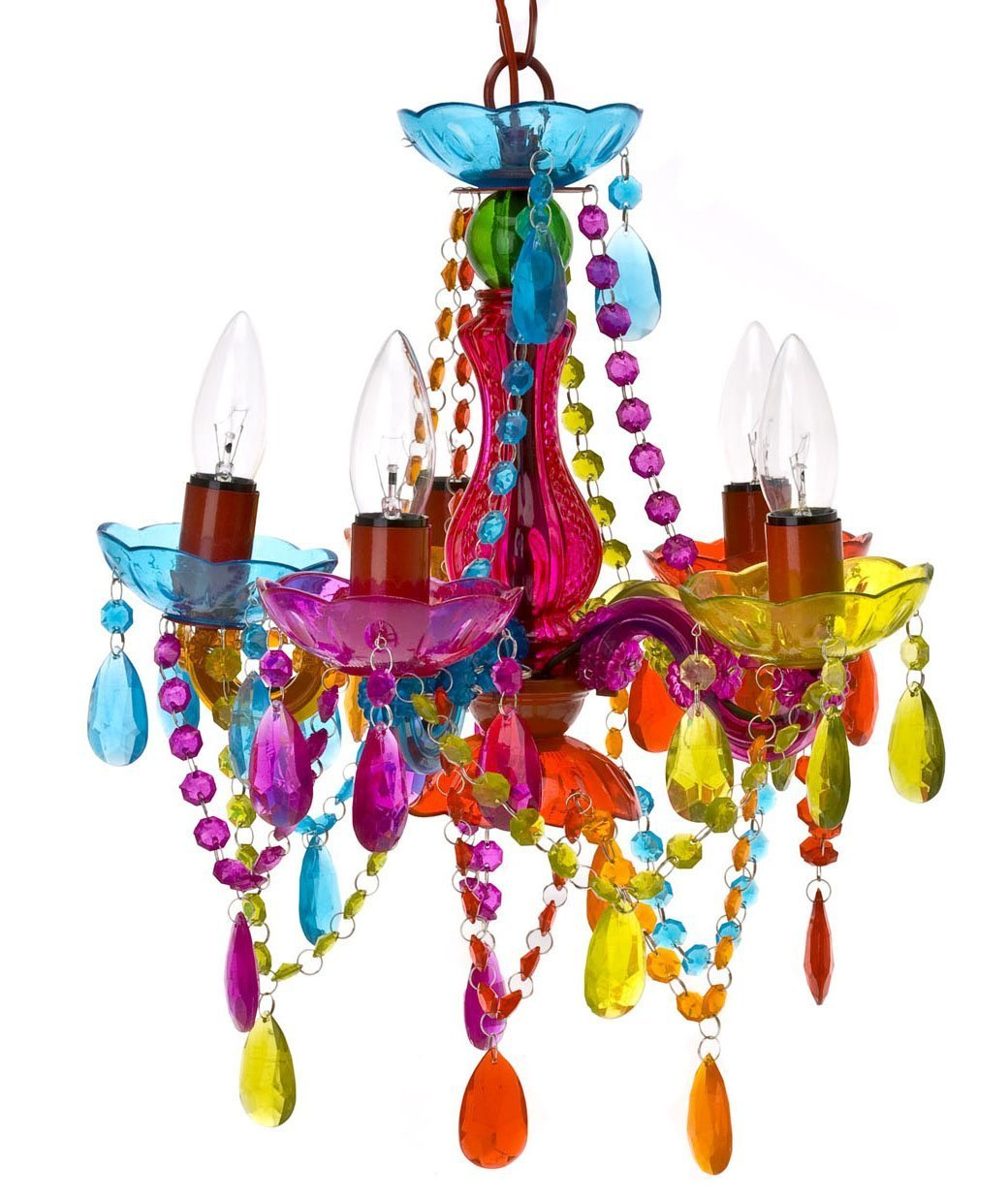 Total fab affordable chandeliers for girls to teens rooms cheap under 80 5 arm multi color girls teens chandelier arubaitofo Image collections