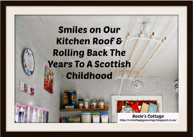 Rolling Back The Years: Drying Clothes Old School Style And Memories Of A Scottish Childhood Home...