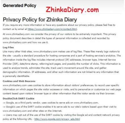 Cara Mudah Membuat Privacy Policy