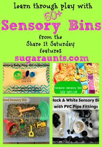 Use these sensory bin ideas to help kids explore the senses with sensory play ideas that will help with sensory challenges or learning through sensory play.