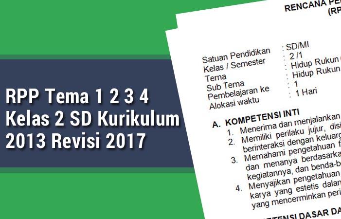 RPP Tema 1 2 3 4 Kelas 2 SD Revisi 2017