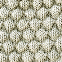 Bubble Knitting stitch is a fun stitch creating a beautifully fabric, ideal for making  scarfs, bkankets, pillows, etc...