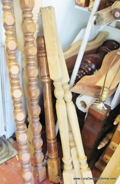 wooden table legs and spindles for dragonfly art