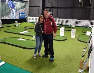Emily and Richard Gottfried at The Golf Show by American Golf in Manchester