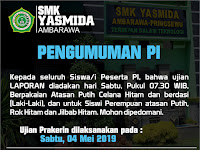 Desain Selebaran Pengumuman Prakerin SMK Yasmida 2019
