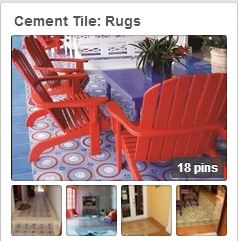 Avente Tile's Pinterest board on cement Tile: Rugs